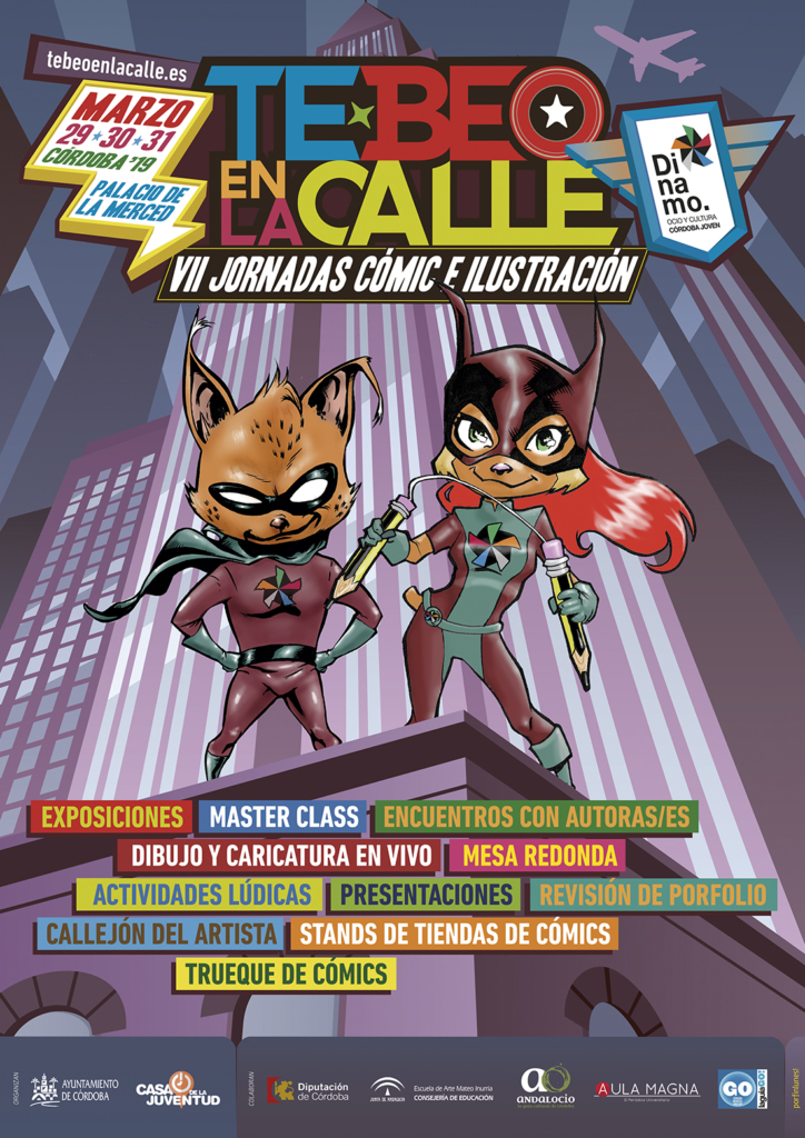 CARTEL VII Jornadas de Comic e Ilustracion TE-BEO en la calle
